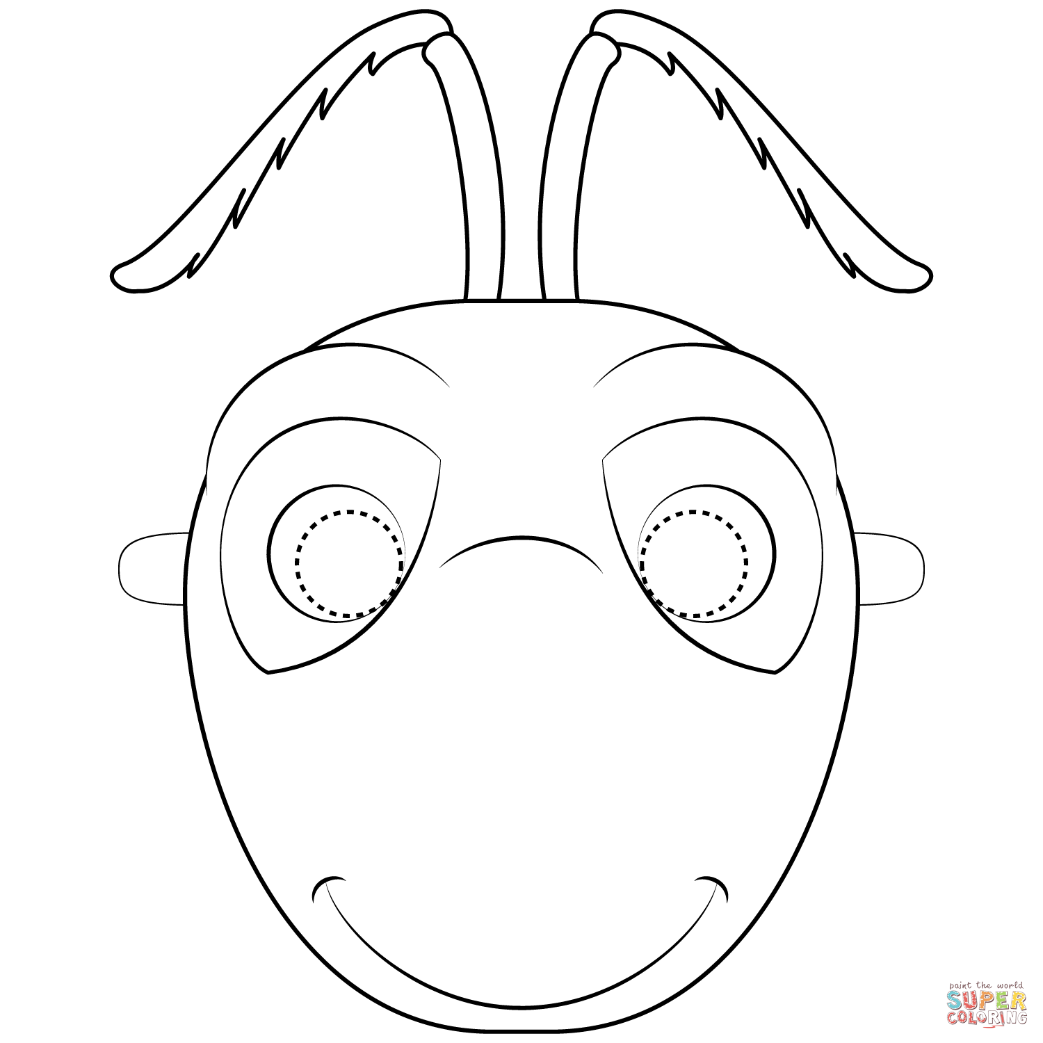 Ant mask clipart vector royalty free Ant Mask coloring page | Free Printable Coloring Pages vector royalty free