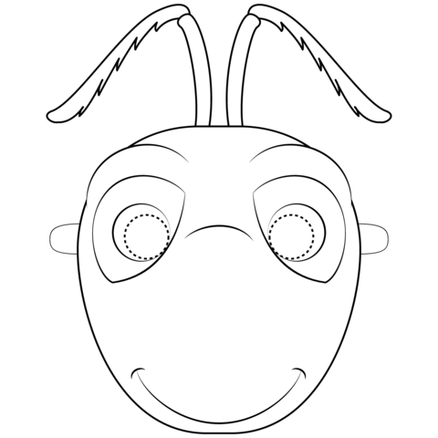 Ant mask clipart picture free stock Ant Mask coloring page | Free Printable Coloring Pages picture free stock