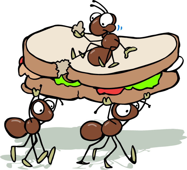 Ant picnic food clipart clip art royalty free download cartoon ants picnic - Google Search | Crafts | Ants, Bugs, insects ... clip art royalty free download