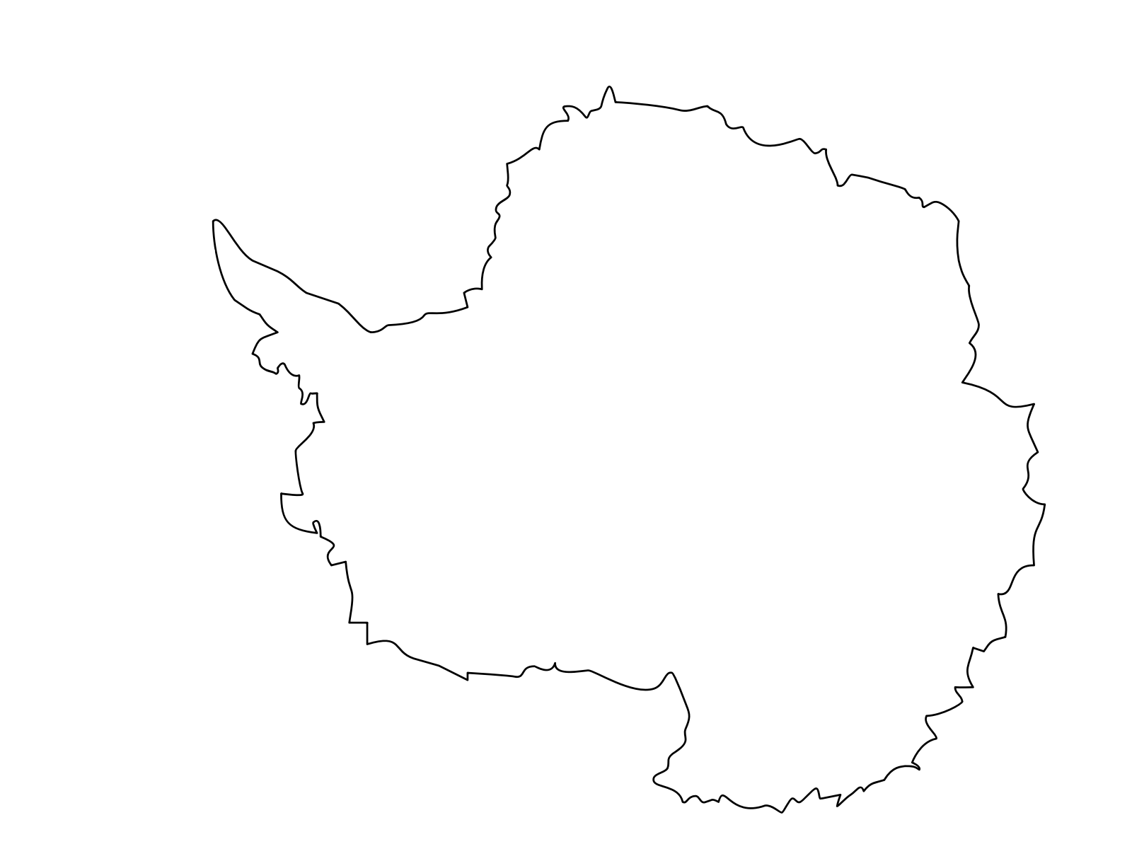 Antarctica black and white clipart png royalty free download Montessori Antarctica Continent Map Clip art, Icon and SVG - SVG Clipart png royalty free download
