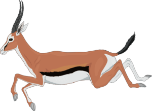 Antelope clipart png picture library stock Leaping Antelope Clip Art at Clker.com - vector clip art online ... picture library stock