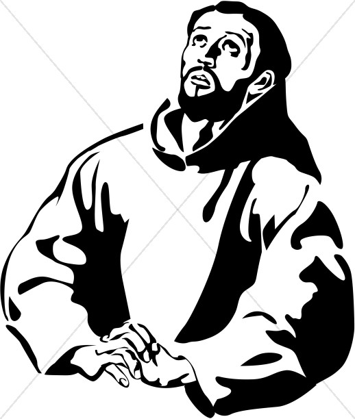 Anthony clipart cartoon life image black and white stock St. Francis of Assisi Clipart | New Testament Clipart image black and white stock