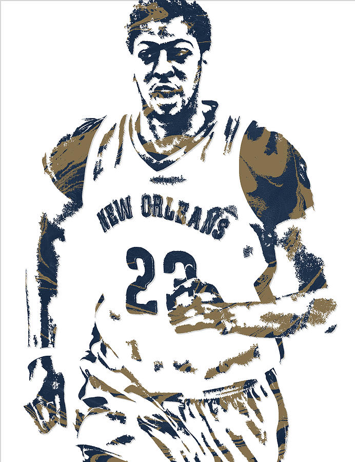 Anthony davis logo clipart clip art transparent library Anthony Davis New Orleans Pelicans Pixel Art 6 by Joe Hamilton clip art transparent library