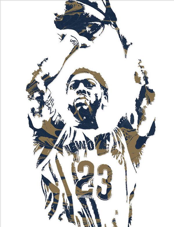 Anthony davis logo clipart svg transparent Anthony Davis New Orleans Pelicans Pixel Art 7 Poster svg transparent