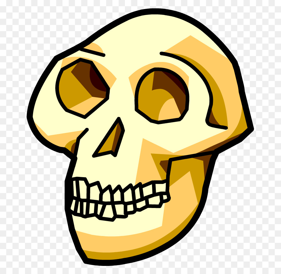 Anthropology clipart svg free download Skull Clipart clipart - Face, Yellow, Head, transparent clip art svg free download