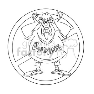 Anti bullying campaign clipart vector freeuse anti bullying campaign black and white clipart. Royalty-free clipart #  394783 vector freeuse
