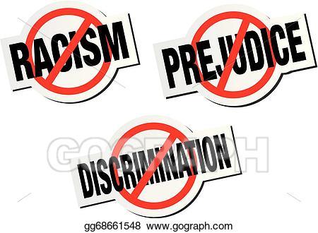 Anti discrimination clipart vector royalty free download Vector Illustration - Anti discrimination sticker sign. Stock Clip ... vector royalty free download