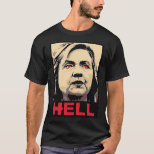 Anti hiliary shirt clipart png transparent download Crooked Hillary Clinton Hell – Anti-Hillary T-Shirt png transparent download