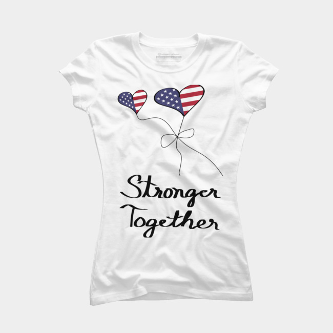 Anti hiliary shirt clipart clip Stronger Together Pro Hillary Presidential Election T Shirt By  KateLCardsNMore Design By Humans clip
