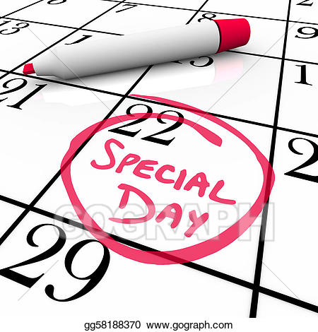 Anticipate clipart graphic royalty free library Stock Illustration - Calendar - special day circled for anticipated ... graphic royalty free library