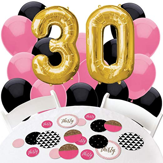 Antie tool box clipart clip art transparent Chic 30th Birthday - Pink, Black and Gold - Confetti and Balloon Birthday  Party Decorations -... clip art transparent