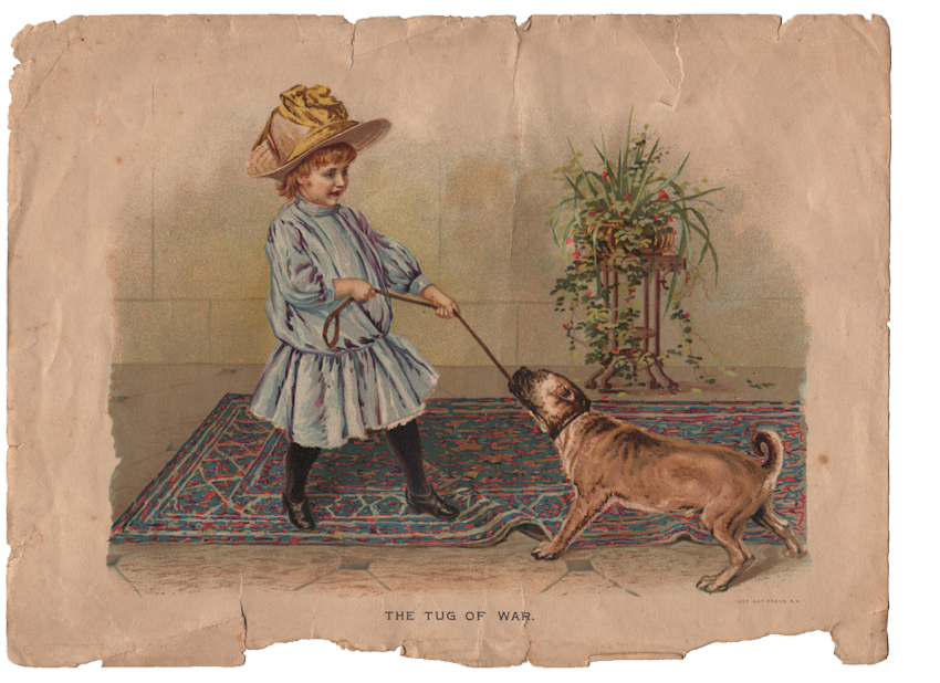 Antique book free clipart image free download Free Vintage Clip Art - Girl with Dog - great Texture - The Graphics ... image free download