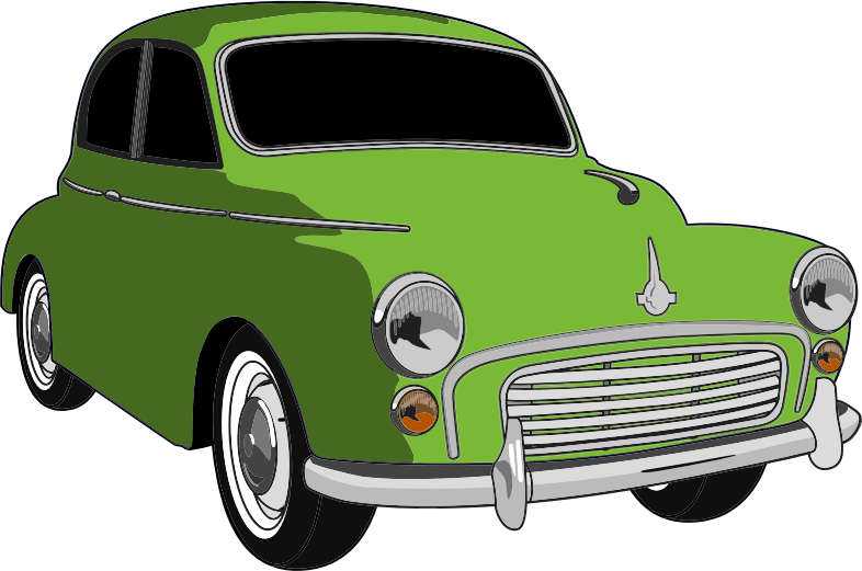 Antique car clipart graphic black and white stock Clipart - Classic Green Car graphic black and white stock