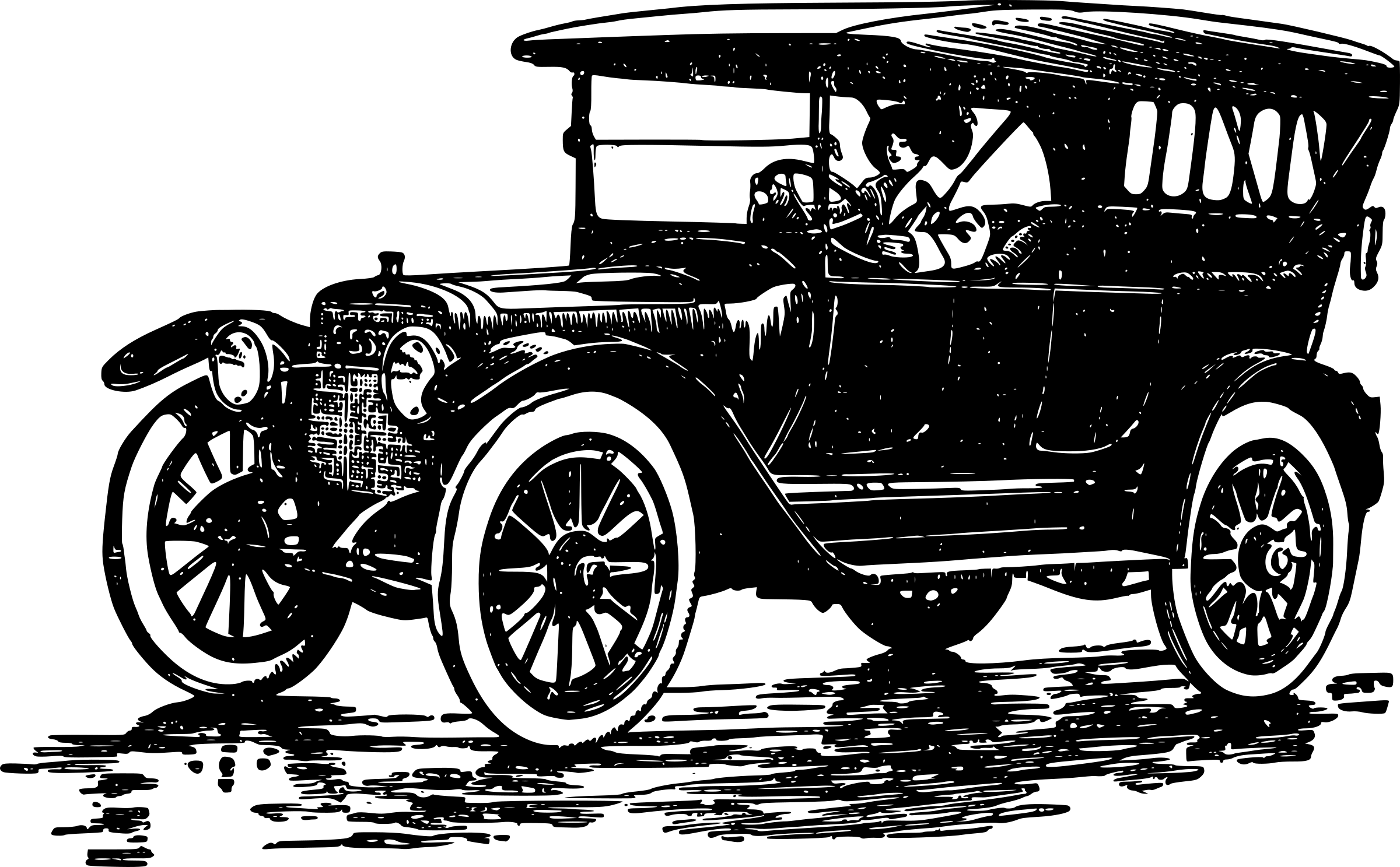 Antique car clipart free graphic library Car Ford Model T Clip art - classic car 2400*1487 transprent Png ... graphic library
