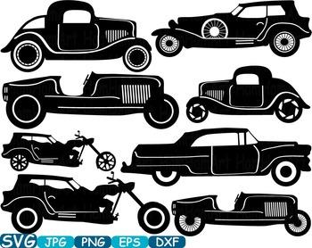 Vintage automotive clipart clip art library download Vintage Sport Cars Monogram clip art hot rod Antique Car ClipArt gear - 313s clip art library download