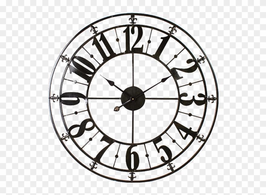Antique clock clipart