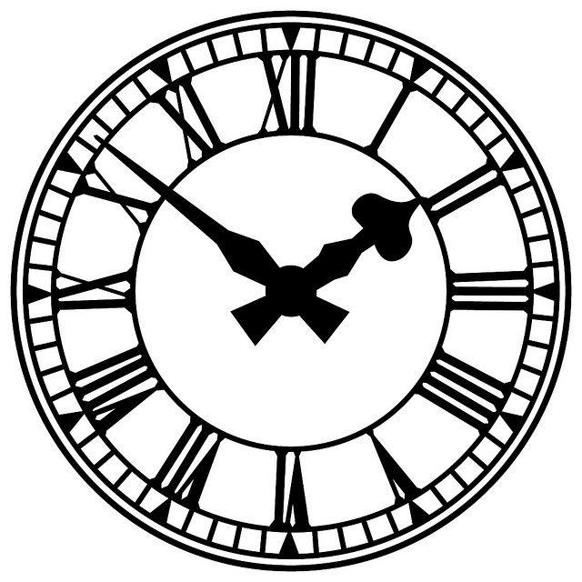 Antique clock clipart picture black and white stock Clock Illustration | Free Stuff | Clock clipart, Clock drawings ... picture black and white stock