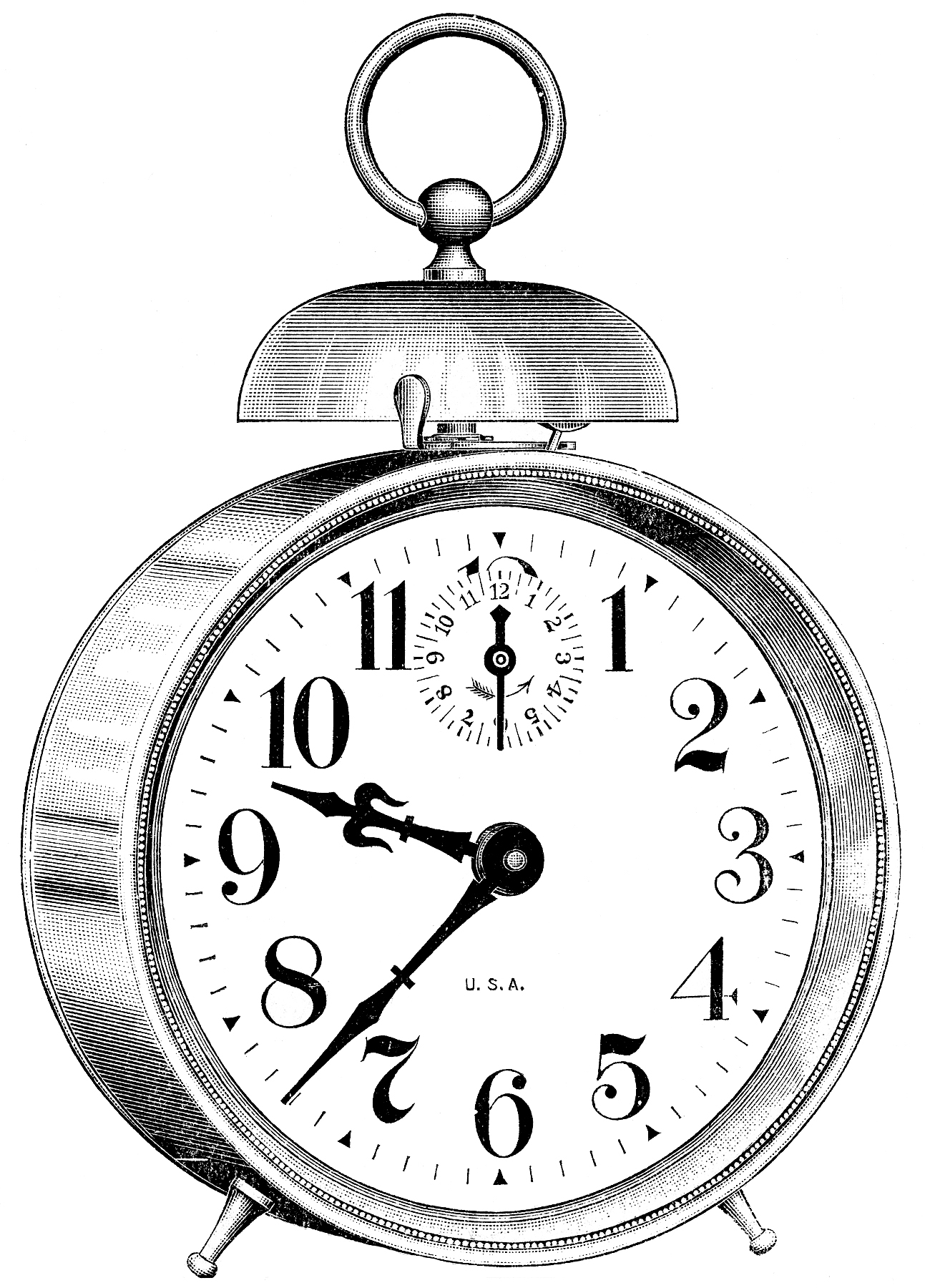 Old fashioned clock with world clipart graphic royalty free stock 8 Clock Graphics - Vintage Alarm Clocks etc - Updated! - The ... graphic royalty free stock