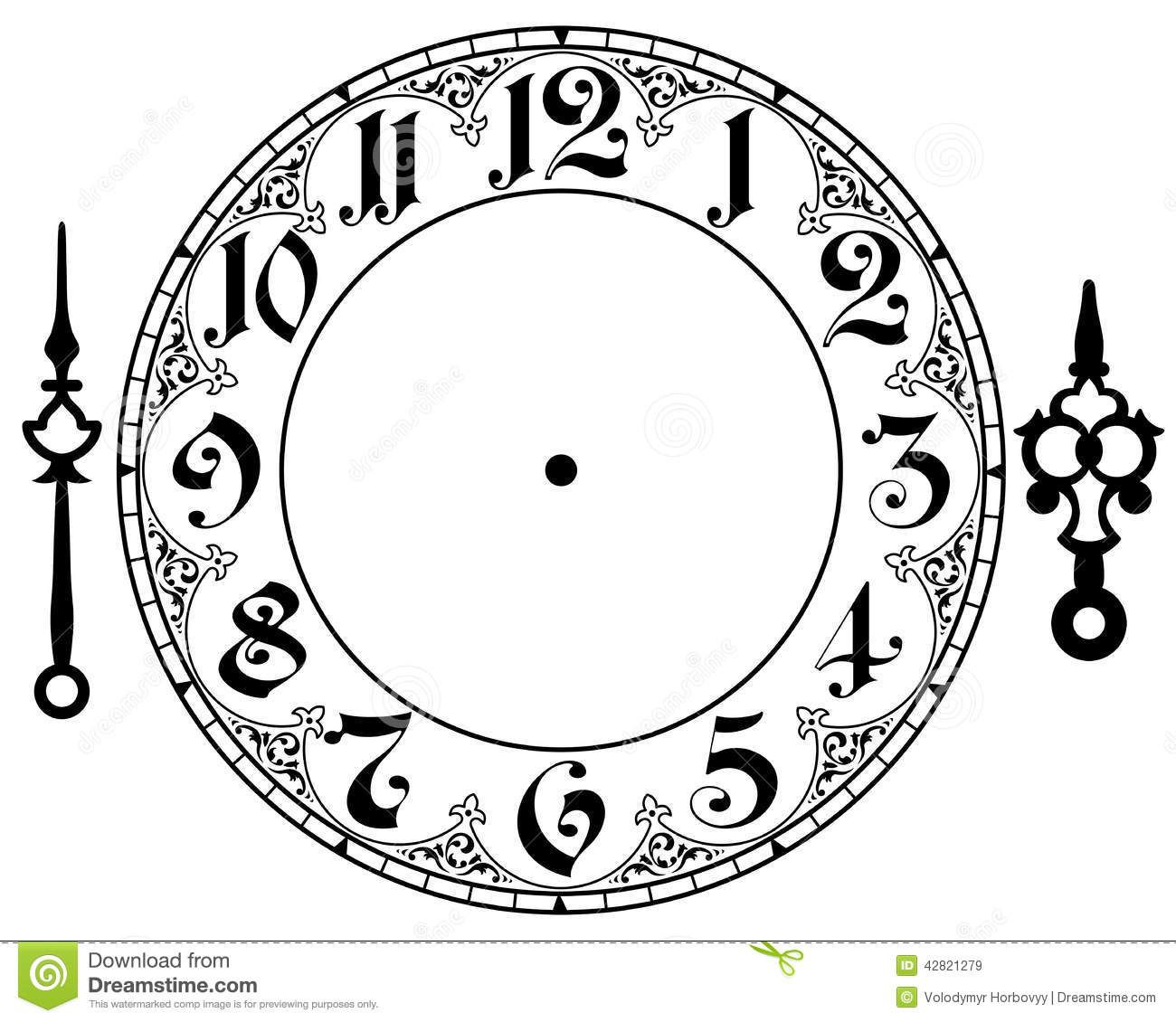 Antique clock clipart clipart freeuse library Vintage Clock Clipart - Clipart Kid | Drawing | Clock face printable ... clipart freeuse library