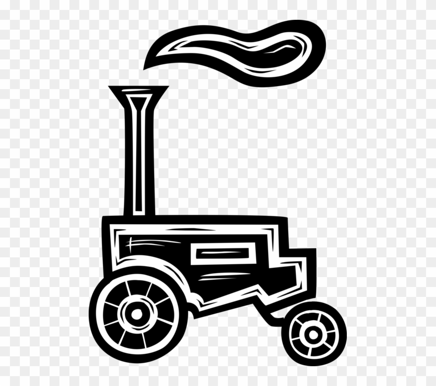 Antique farm machinary clipart png Vector Illustration Of Antique Farming And Agriculture - Tractor ... png