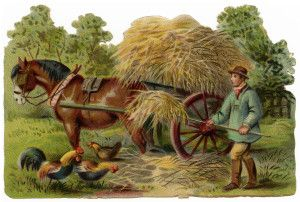 Antique farmer clipart vector free library victorian clip art, vintage farm clipart, farmer stooking hay, horse ... vector free library