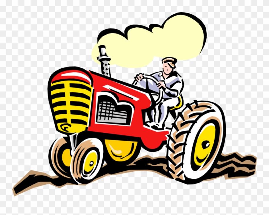 Antique farmer clipart black and white Vector Illustration Of Farmer Riding Farm Equipment - Transparent ... black and white