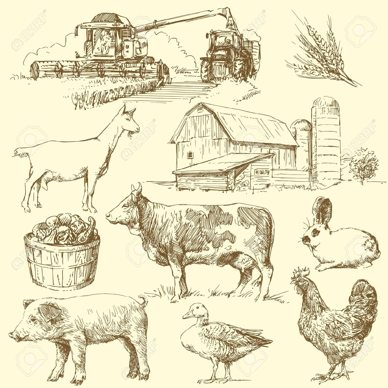 Antique farmer clipart graphic free library Free Vintage Farm Cliparts, Download Free Clip Art, Free Clip Art on ... graphic free library