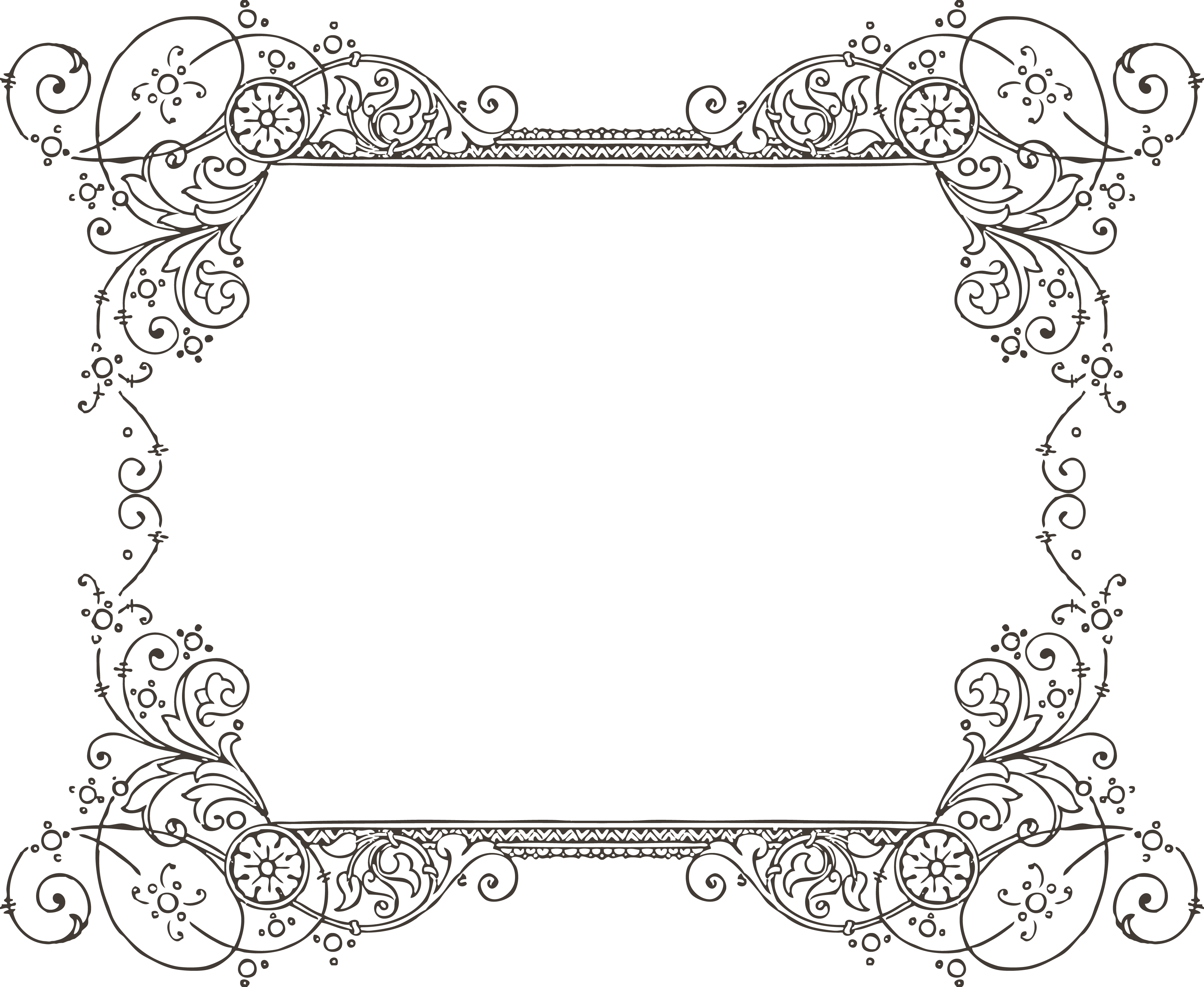 Frame decoration clipart png free library decorative backgrounds for word documents | More Free Clipart ... png free library
