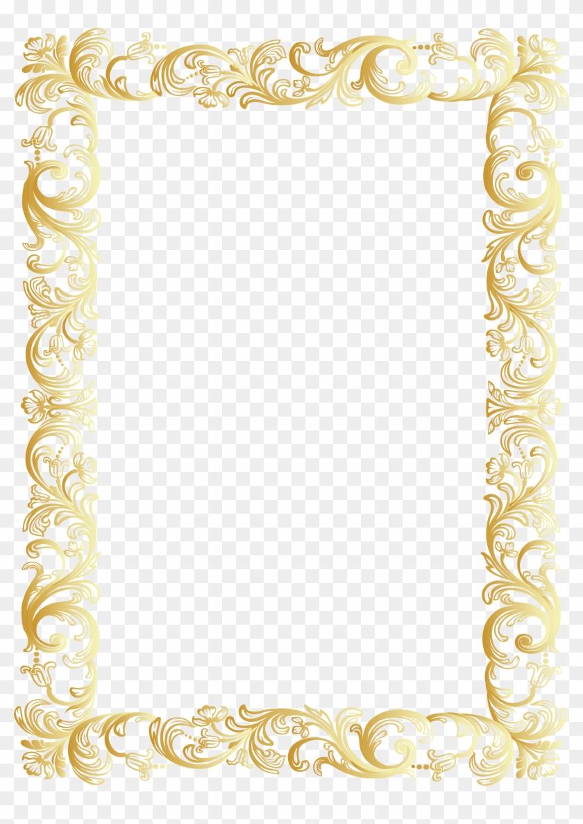 Antique frame borders clipart svg Antique Frame Border Png Pngkey Vintage Borders Glitter - Gold ... svg