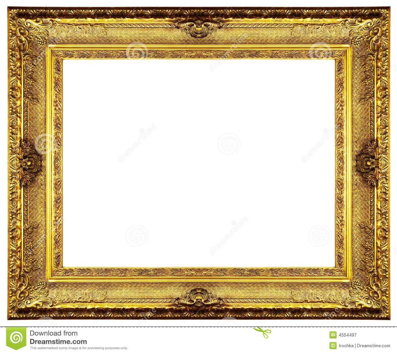 Antique gold frame clipart graphic royalty free download Gold Frame Border Clip Art | Chipped vintage gold ornate frame ... graphic royalty free download