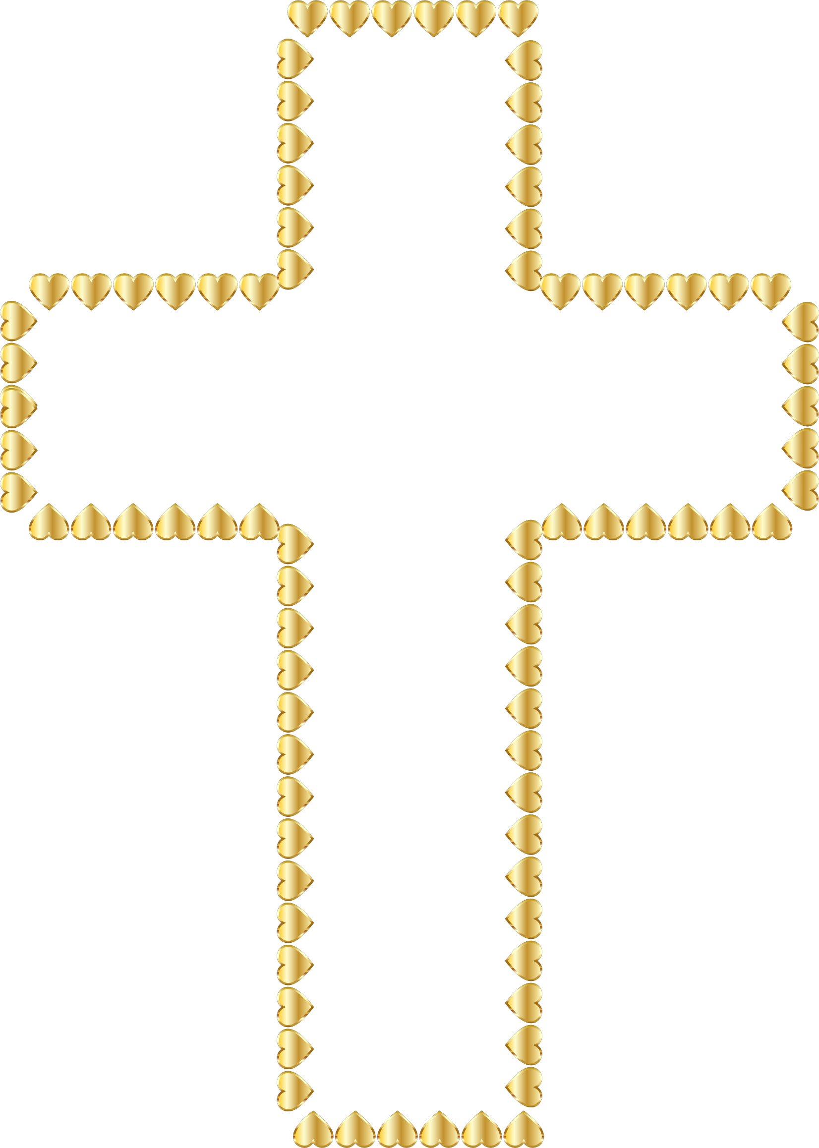 Antique gold christian cross clipart png svg black and white stock Golden Cross Hearts No Background by GDJ | komunia | Pinterest ... svg black and white stock