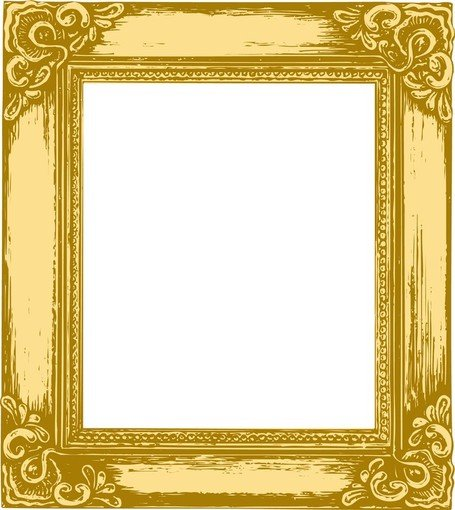 Antique gold frame clipart svg library download Free Antique Gold Frame 05 Clipart and Vector Graphics - Clipart.me svg library download