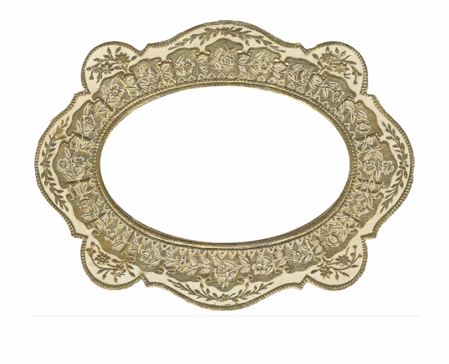Antique gold frame clipart vector transparent download Free Vintage Gold Frame Graphic - Circle Free PNG Images & Clipart ... vector transparent download