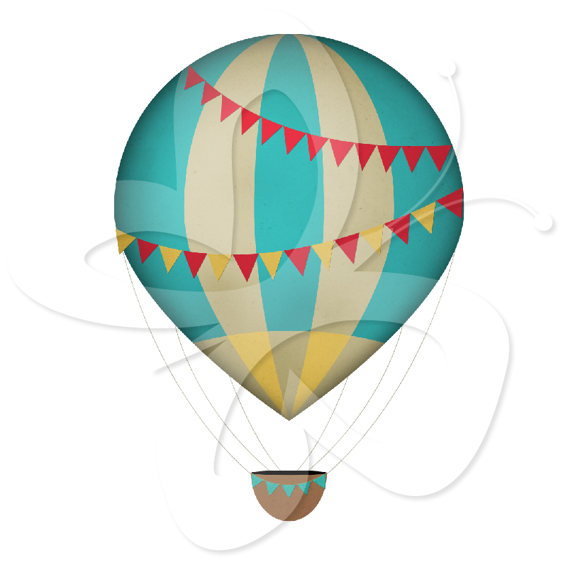 Air balloon wallpaer clipart image black and white library Vintage Hot Air Balloons | Clipart Panda - Free Clipart Images image black and white library