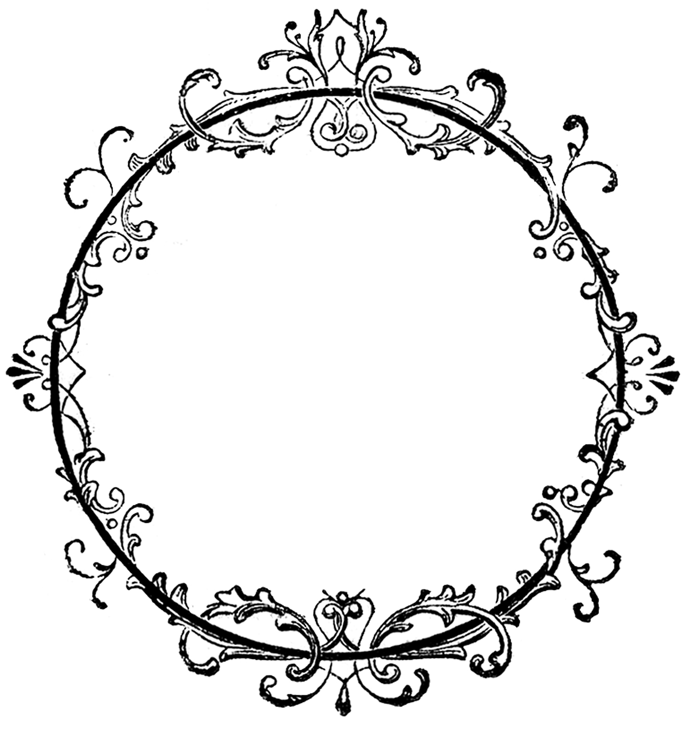 Antique labels clipart png library stock 24 Frame Clipart - Fancy and Ornate - Updated! - The Graphics Fairy png library stock