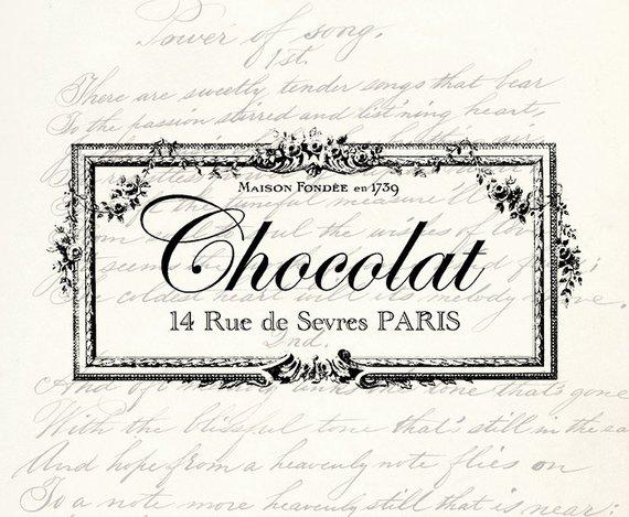Antique labels clipart svg free Chocolat French Vintage Antique Typography Label - Vintage Label ... svg free