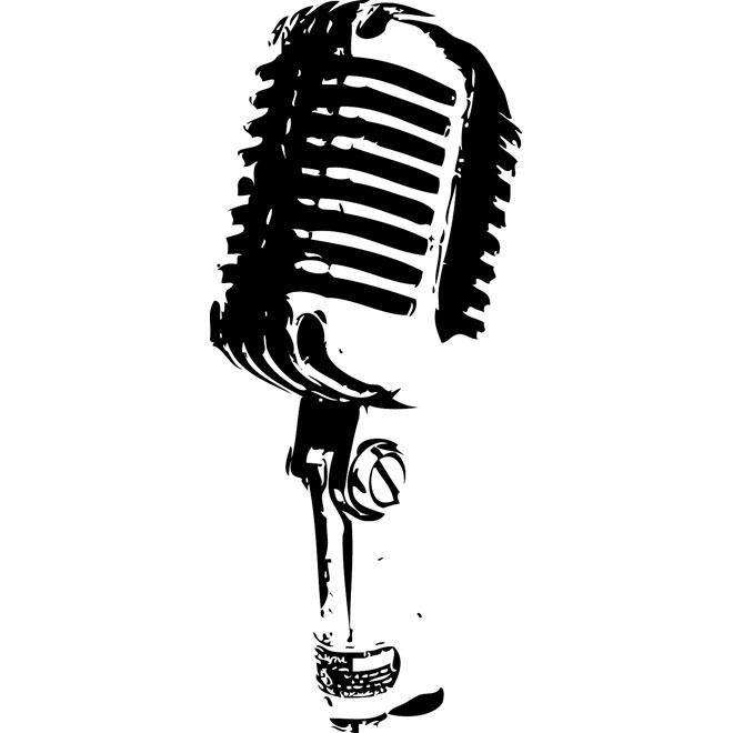 Microphone vector clipart svg library Retro Microphone Image Free Vector svg library