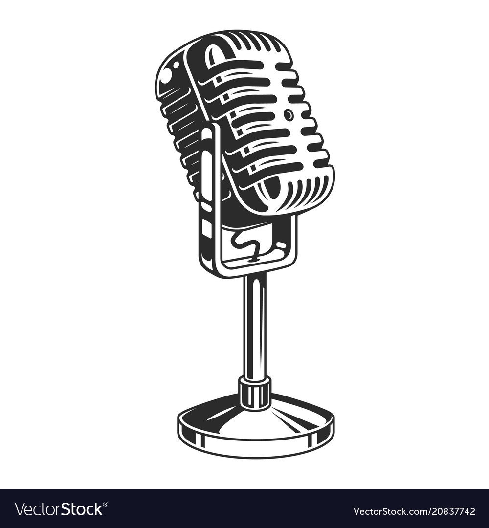 Antique microphone clipart png royalty free stock Retro microphone symbol png royalty free stock