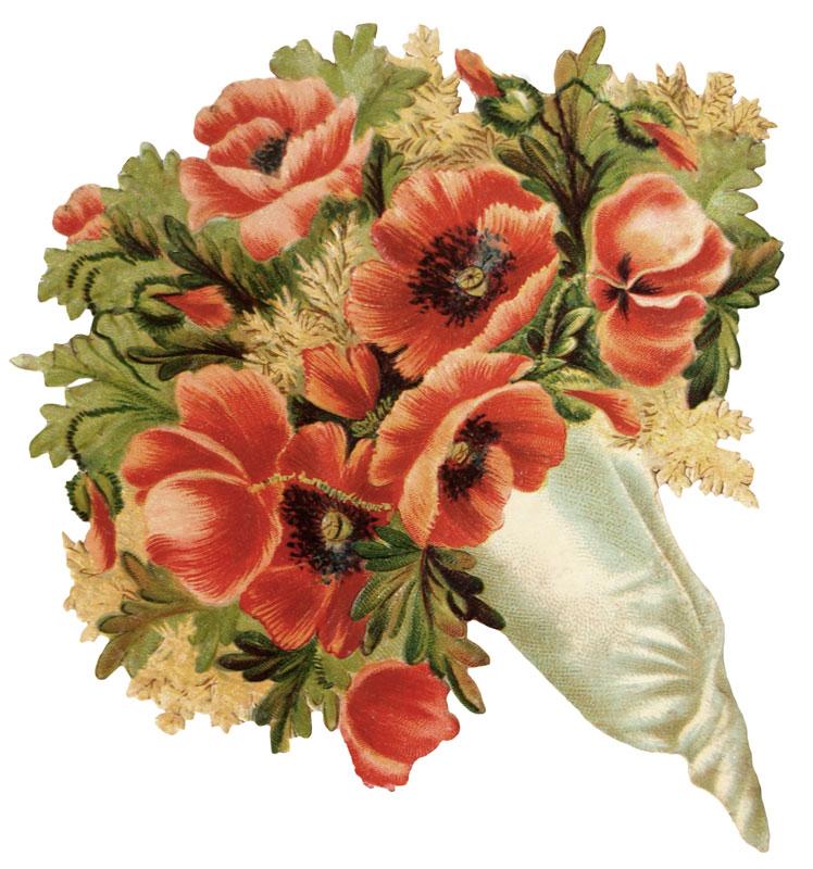 Antique nosegay clipart free clip transparent library Vintage flowers clipart no background - Clip Art Library clip transparent library