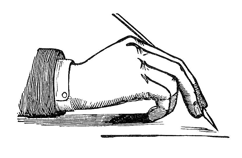 Pen in hand clipart jpg freeuse download Antique Images: Victorian Writing Clip Art: Vintage Image of Hand ... jpg freeuse download