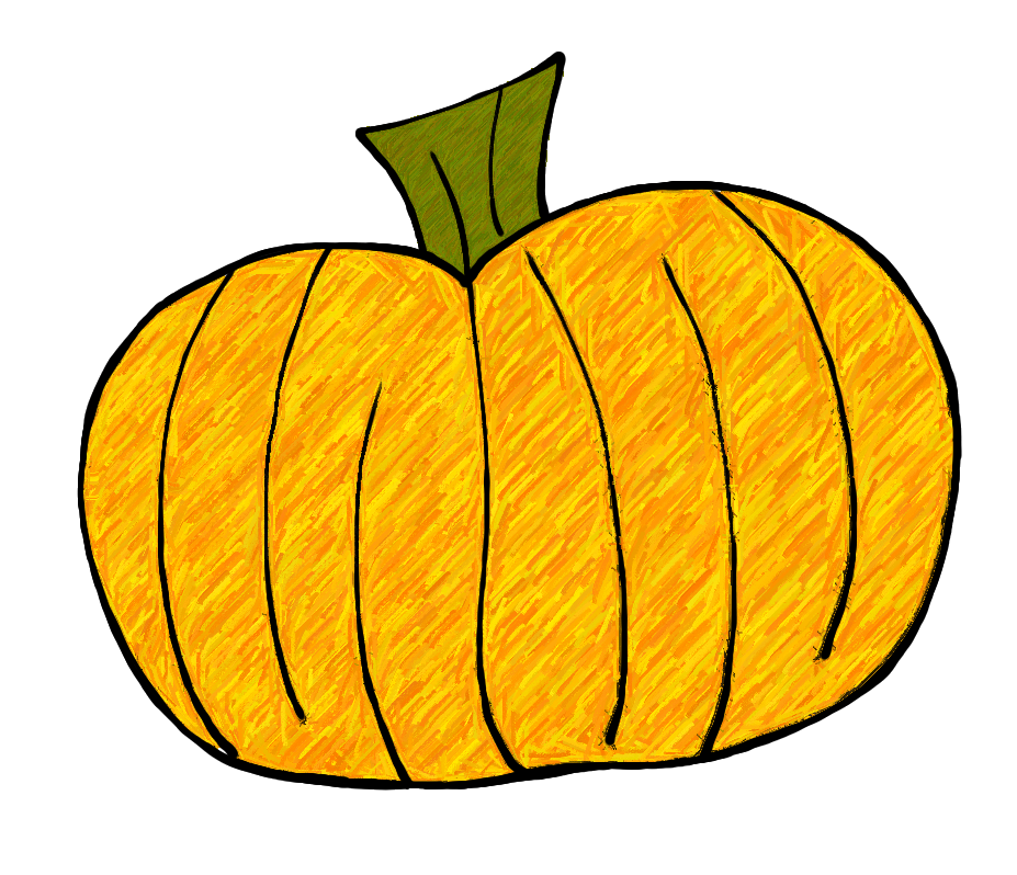 Pumpkin leave clipart picture library library 28+ Collection of Round Pumpkin Clipart | High quality, free ... picture library library