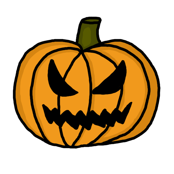 Easy spooky pumpkin clipart black and white. Face at getdrawings com