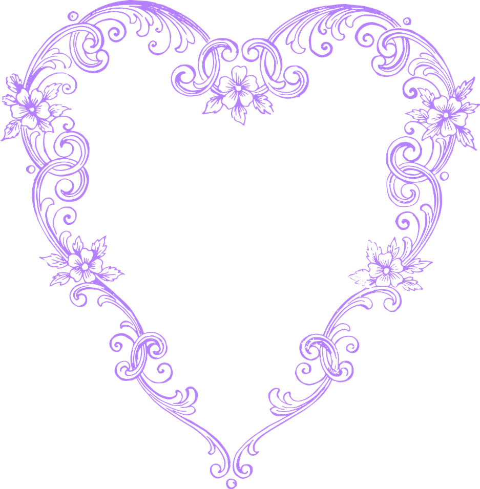 Antique purple flower clipart clip art royalty free download Free Images – Fancy Vintage Purple Heart Clip Art :: Clip Art ... clip art royalty free download
