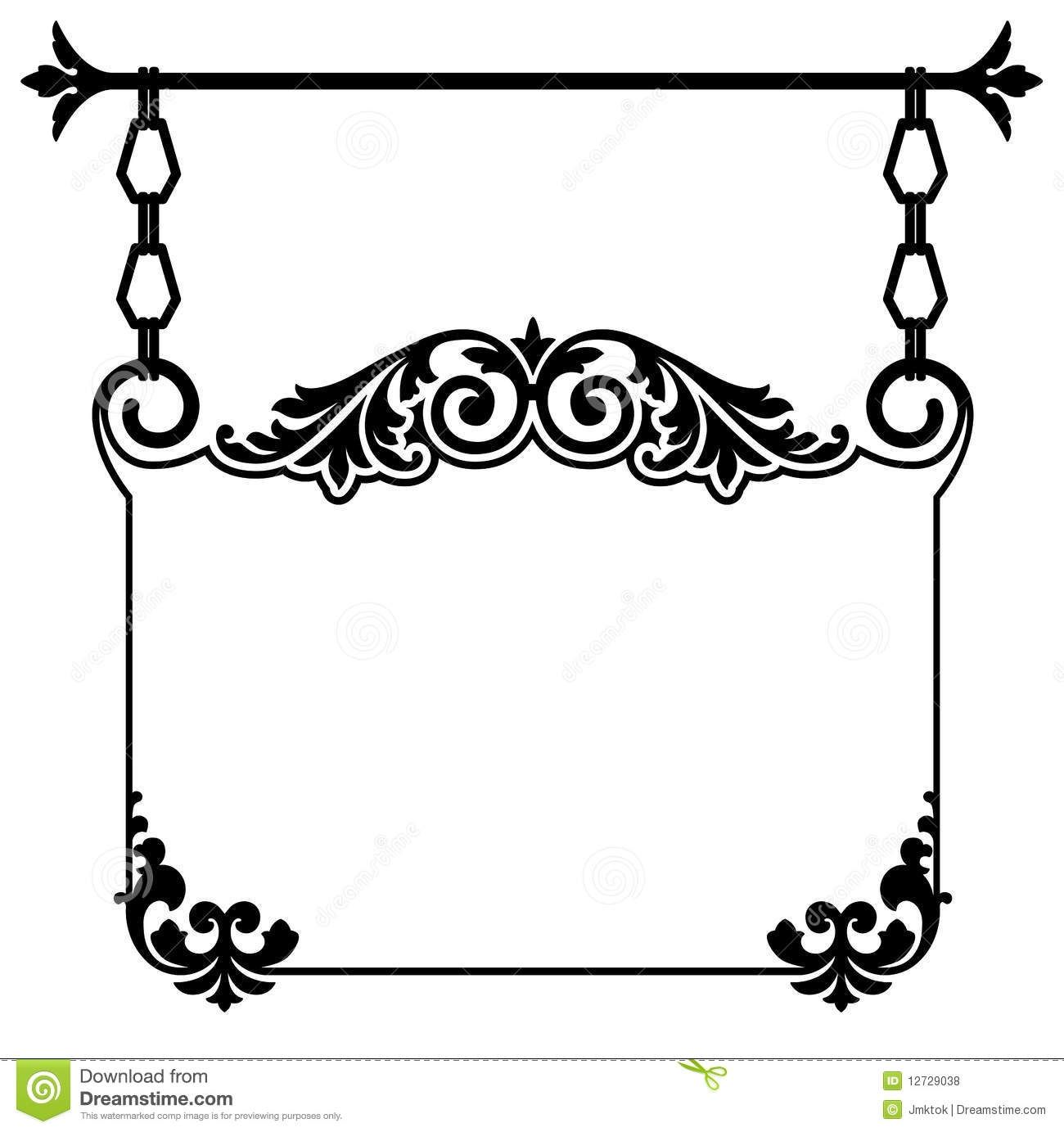 Antique shop sign clipart banner black and white download Vintage Store Signs Clipart ... | Cheyenne basement remodel ... banner black and white download