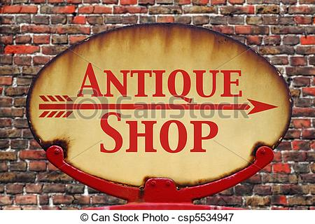 Antique shop sign clipart banner free library Retro sign Antique shop banner free library