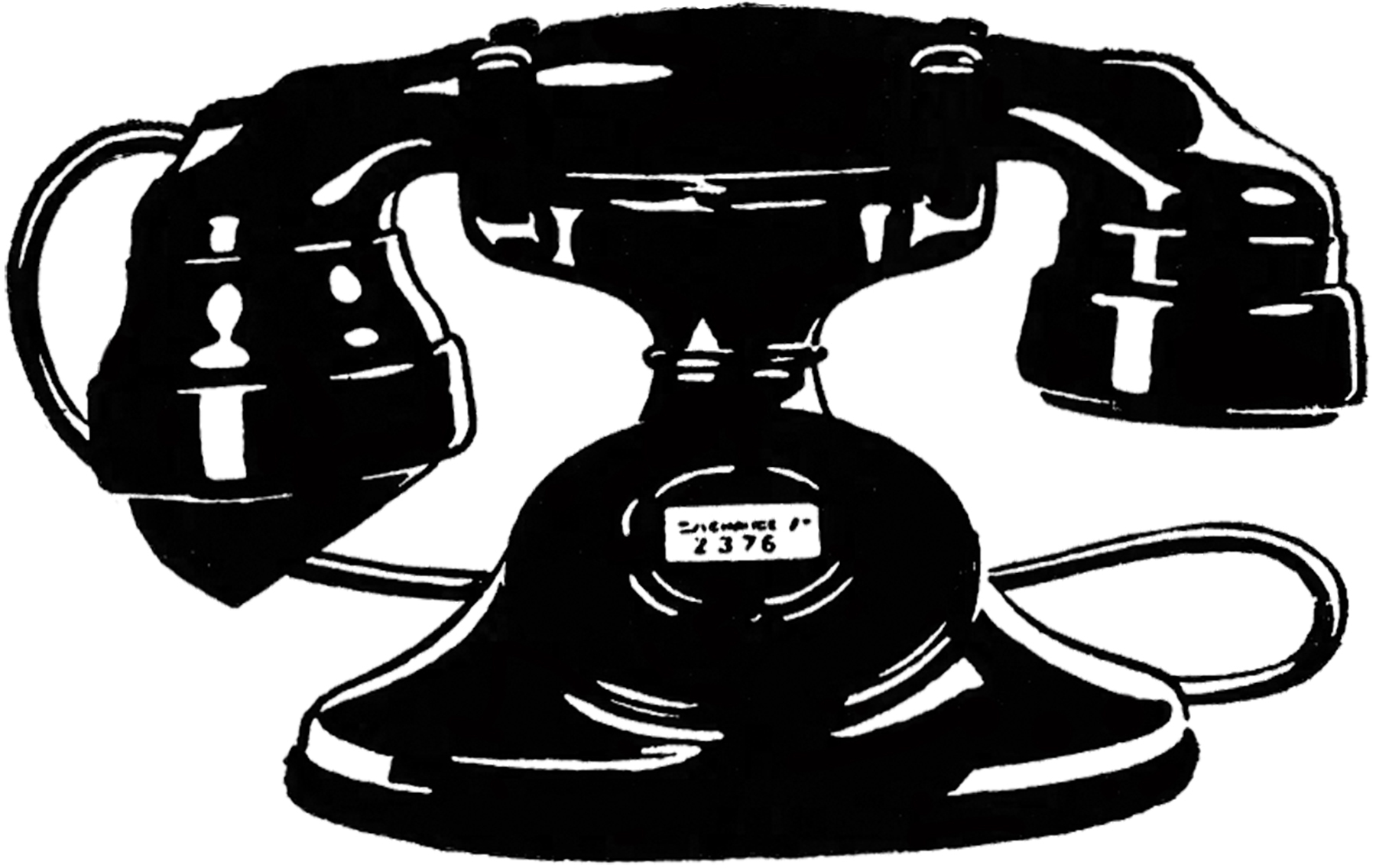 Old fashioned phone clipart png black and white stock 7 Vintage Telephone Images! - The Graphics Fairy png black and white stock