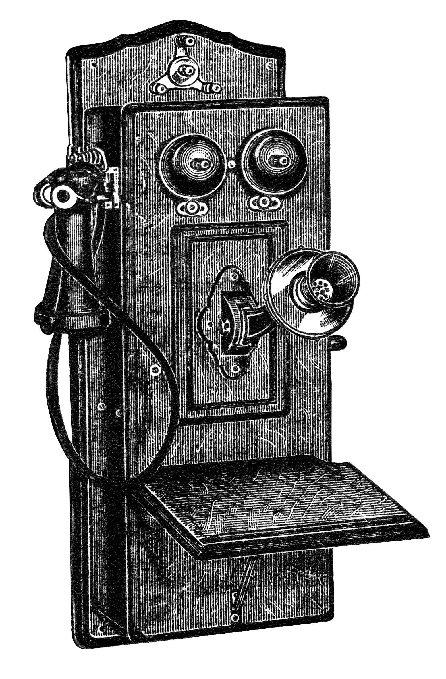 Antique telephone clipart svg black and white download Antique Telephone Clip Art - Old Design Shop Blog svg black and white download