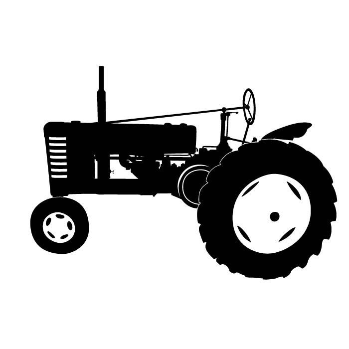 Wd45 allis chalmers clipart picture library library tractor silhouette clip art | Antique Tractor Silhouette | Allis ... picture library library