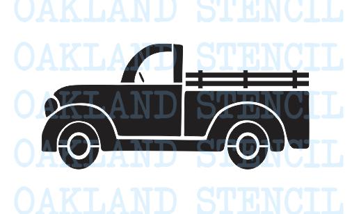 Antique truck rear facing clipart clip transparent stock Vintage Truck STENCIL 6\