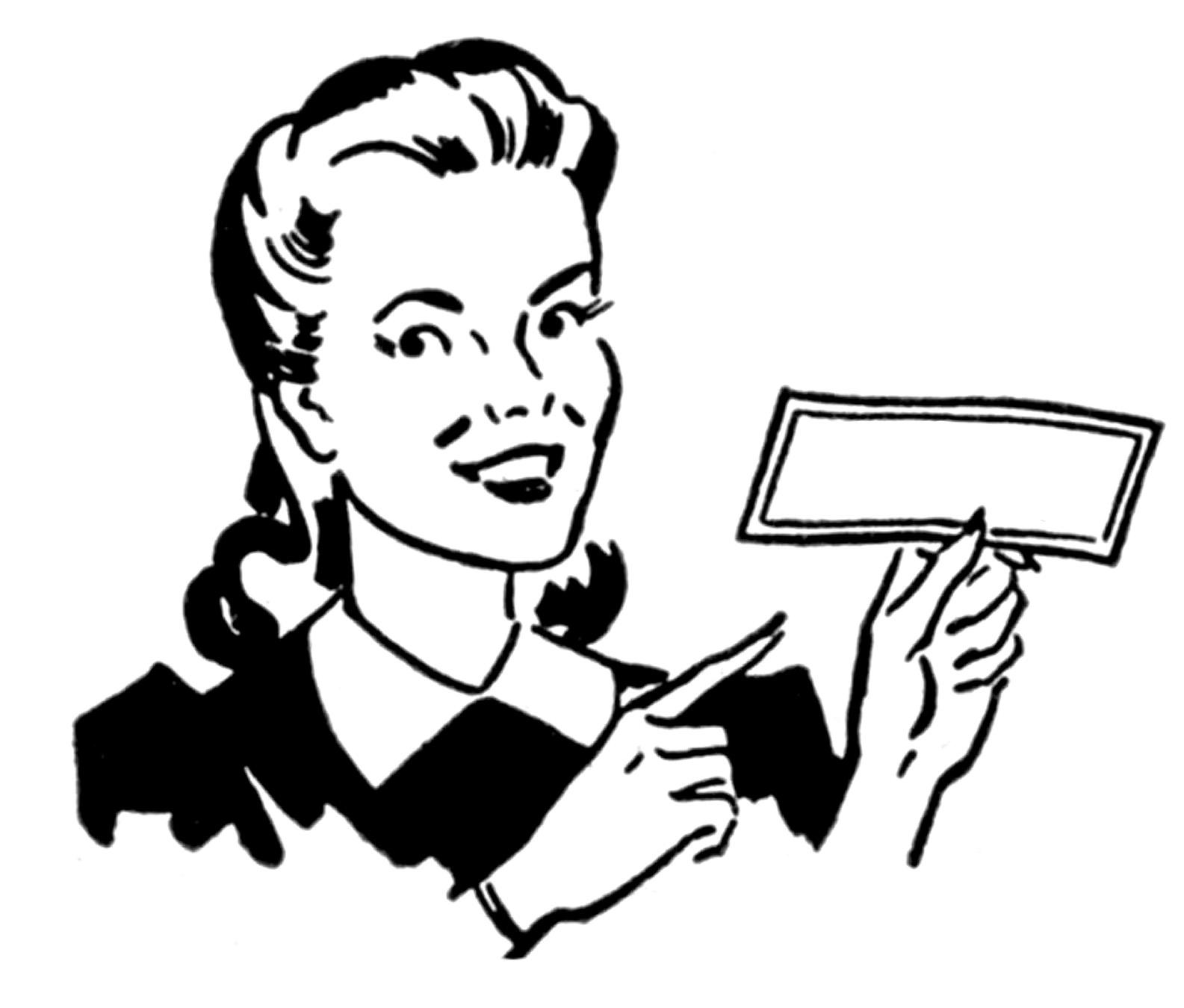 Vintage clipart woman svg transparent library Free Vintage Woman Clipart, Download Free Clip Art, Free Clip Art on ... svg transparent library